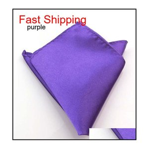 Simple Solider Color Hanky Handkerchief Business Suit Square Pocket Handkerchief Kerchief Wedding Groom Fashi qylkpa bdefashion