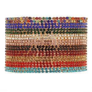 Fashion Charm Tennis Bracelets for Women Men Colorful Zirconia Jewelry Box Chain Braclets Gifts Pulseira Feminina