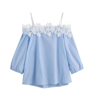 Sunny Summer 2020 Womens Off Shoulder Lace Top Ladies Tops Tee Blouse Hot Sale C1535