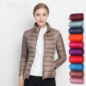 Women Winter Coat 2021 New Ultra Light White Duck Down Jacket Slim Women Winter Puffer Jacket Portable Windproof Down Coat 5XL