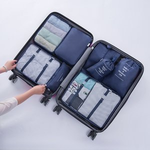 New  Set Travel Organizer Bags For Clothing Packing Organizers Clear Mesh Bags Suitcase Luggage Bag In Bag Dropshipping LJ201114