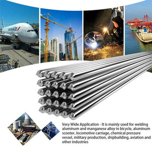 50pcs Aluminum Welding Electrodes Flux Cored Low Temperature Brazing Wire Welding Electrode Flux Core Aluminum 500x2.0mm