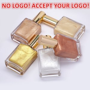 No Logo!5 colors face Liquid Highlighter Body Spray Brighten Cream Long Lasting Pigment Highlighters accept your logo!