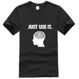 Просто используйте It Your Brain тенниску смешной подарок на день рождения для Geek Лето с коротким рукавом Футболка Tshirt Dropshipping спорта Толстовка с капюшоном Толстовка