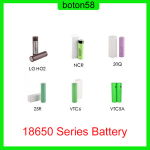 Best Quality HG2 30Q VTC6 3000mAh VTC5A 2600mAh NCR 3400mAh 25R 2500mAh 18650 Series Battery E Cig Mod Rechargeable Li-ion Cell Battery