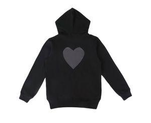 مقنع سستة سترة رجالي هوديي البلوز فضفاض نمط الأزياء المد الشتاء معطف البلوز أوم الملابس مع القلب التطريز طباعة S-XL