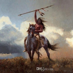 Framed &Unframed american warriors by Howard Terpning High Quality Handpainted Portrait WALL Art Oil Painting On Canvas Multi sizes My998