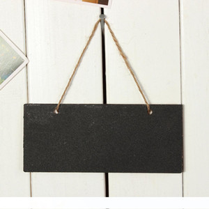 2pcs Wooden Mini Blackboard Small Hanging Chalkboard Message Memo Note Board Wordpad with String Wedding Party Decoration