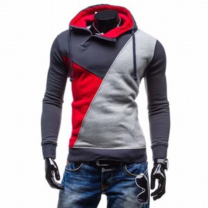 New 2017 Autumn Mens Casual Brand Hoodies Patchwork Fashion Hooded Fleece Sweatshirt Male Leisure Tracksuits Jacket M-XXL SW66