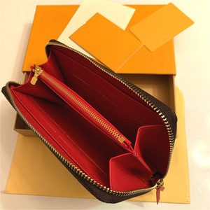 M60742 Clemence Wallet Designer Mulheres Zippy Long Canvas Clémência Chave Carteira Carteira Bolsa de Moeda Caixa de Cartão de Mini Mini Pochette Accessoires CLES