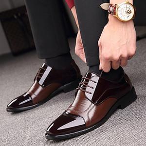 KANCOOLD Fashion Business Dress Men Shoes New Classic Leather Men'S Suits Shoes Fashion pointed lace-up Dress Shoes Men Oxfords LJ201015