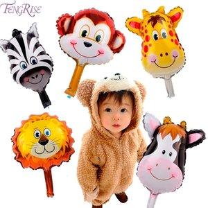 Fengreise 6 шт. / Лот джунгли в форме животных воздушные шары льва гелиевый шар на день рождения украшения детей младенца душ мальчик вечеринка