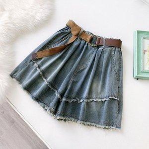 BYGOUBY Shorts en jean pour femmes avec ceintures classiques Vintage Vintage High Taille Large Speed Femme Loue Mesdames Mesdames Jeans pour femmes1