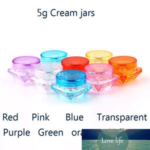 100pcs x5g Small Square Bottle Cosmetic Empty Jar Pot Eyeshadow Lip Balm Face Cream Sample Container H-02
