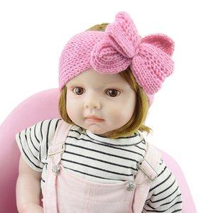 Cheap bonito Quente Fantasia Fashinable bowknot Acessórios de cabelo macio malha Crochet Baby Kids Outono Inverno Headband