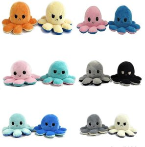 Reversible Cute Octopus Plush Doll Reversible Stuffed Plush Toy Soft Double-sided Flip Octopus Doll Children Girls Doll Home Decoration