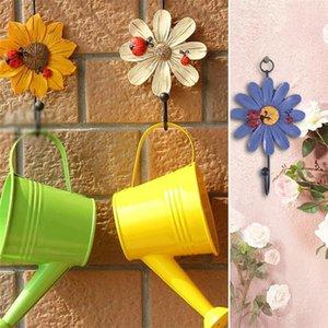 Flower Shape Wood Home Hat Coat Clothes Towel Wall Door Hangers Hooks Bathroom Bedroom Hanging Hook Accessories