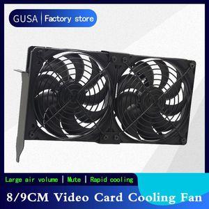 Gusa 80mm 92mm 12V Universal Desktop Ultra-Quiet Graphics Card video card Radiator Companion Case PCI Graphics Cooling Fan