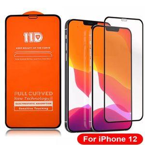 11D Big Edge 11D Cheio Curvo temperado vidro 9h protetor de tela para iphone 6 7 8 mais x xr 11 12 pro max