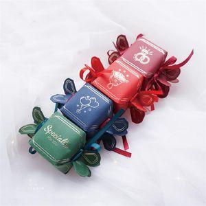 10pcs nouveau stockage de bijoux design spécial délicat emballage cadeau forme de sucre est arrivé 6 * 6 * 6cm boîte de beauté de haute qualité mariage