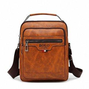 Suutoop 2020 hombres de negocios PU de cuero impermeable bolsas Messenger Bolsa de bandolera Bolso de hombro Bolsos de hombro Viaje de viaje para hombre # TG8C