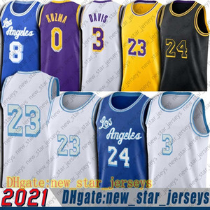 Los 6 23 Angeles King LBJ Jersey Basketball Black Mamba Jersey emblématique Anthony 3 Davis Kyle 0 Kuzma Jerseys Retour 34 Shaq 32 Magician GHJ