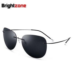 New Light-Weight Flexible Titanium No-Screw-Rahmen Persönlichkeit Mann Sonnenbrille Driving-Mann-Frauen-Augen-Gläser mit ursprünglichem Kasten