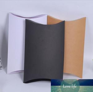 20Pcs lot High Quality Pillow Box White Black Brown Kraft Paper Box Blank Candy Packaging Present Wrapping Boxes 27x21x5cm