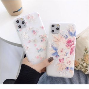 Fashion 3d Relief Flower Phone Case For Iphone 11 11pro Max X Xr Xs Max 7 8 Plus Se2 Sile jllpaq