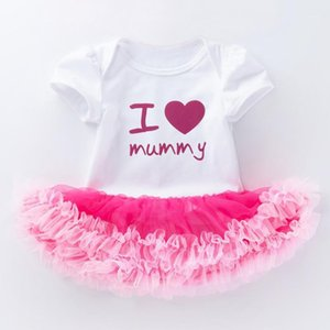 I love Mom Baby Girl Princess Dress Newborn Infant Toddler Girls Outfit Set Pink Tutu Dresses Birthday Party Babygirl Clothes1