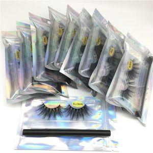 25mm visone ciglia con colla Eyeliner drammatica lungo 5D Faux visone ciglia 3D visone adesivo del ciglio colla del ciglio per Soft Extension Ciglia