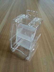 Cheap relógio inteligente Plastic Package Box abertura da janela Relógio caixas Transparente presente assistir caixas de embalagem