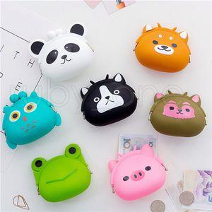Silicona monedero Animales Forma Pequeño Cambio Monedero Mini bolso de la moneda para chicos, chicas niños regalos para niños 13styles RRA3723