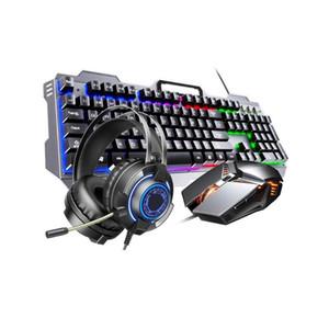 Gaming Keyboard Mouse 104 Keys RGB Backlit Keyboards Mouse Combo Metal Gamer Keyboard For Tablet PC Laptop Desktop Computer