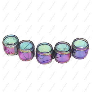 Zengrongchun Extended Pyrex Glass Tube Rainbow Color Fat Boy Tubes TFV12 PRINCE iJust ECM Replacement Sleeve DHL Free