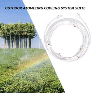 Outdoor Watering Irrigation Misting Cooling System Kit Brass Nozzle Greenhouse Garden Watering Irrigation Sprinkler Hose Set