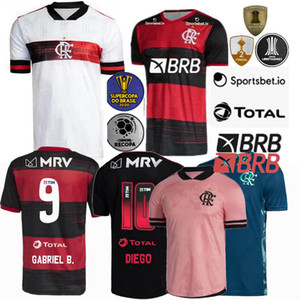 20 21 Flamengo Futbol Forması 2020 2021 Diego Futbol Formaları Flamengo De Arrascaeta B.Henrique Gabriel B. Futbol Adam Kadın Gömlek 4XL