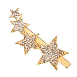 2020 New Korea Geometric Imitation Pearl Crystal Shiny Hairpins Star Shape Hair Clips Hair Accessories for Women Girls