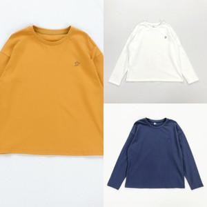간단한 스트로크 재단 재단 Foundatio 오리 급유 긴 소매 기본 학생 여자 간단한 다목적 급유 오리 스트로크 티셔츠