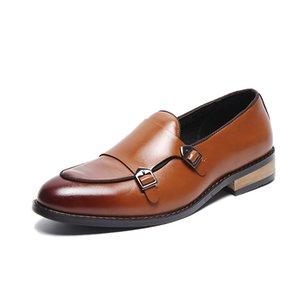 2020 Chaussures d'hommes formels Haute Qualité Respirant Loisirs En Cuir Hommes Business Shoe Shoe Shoes Mocassins Oxford Chaussures LJ201015