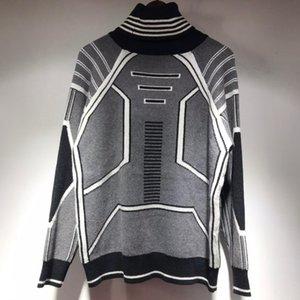 AB Boyutu erkek Kazak Suit Kapşonlu Rahat Moda Renk Şerit Baskı ABD Boyutu Yüksek Kalite Vahşi Nefes Uzun Kollu HM T-Shirt D5