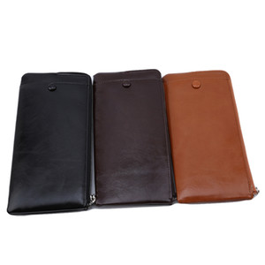 Pu Long Of Package Leather Card Solid Wallet Slot Organizer Wallets Zipper Interior Male Pocket Bag Section Men's Polyester Wvmvd