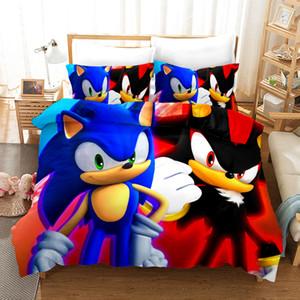 3D Design Digital Printing Bedding Set Duvet Cover Pillowcase Bedclothes Dropshipping Sonic Boy for Gife #1 1012
