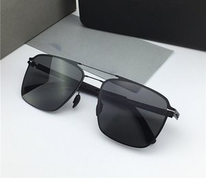 New MYKITA Sunglasses FLAX Pilot Frame with Mirror Lens Ultra Light Frame Memory Alloy Sunglasses Cool Outdoor Design With Original Box