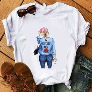 Fashion T Shirt Lady Make Up Collection Coffee T Shirt Women Summer Casual Tops Girl Hipster shirts