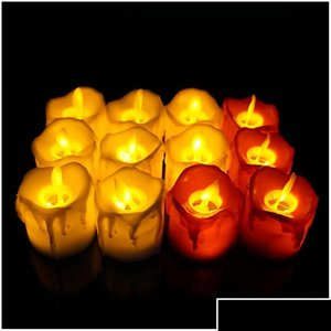 Led Flameless Candle Tea Light Pillar Candle Tealight Battery Operate Candle Lamp Wedding Birthday Party Christm bbyEPJ packing2010