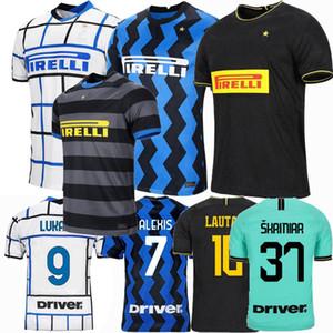 2019 2020 2021 Lukaku ALEXIS İnter Lautaro ERIKSEN Milan futbol formaları 19 20 21 Godin SENSI ev uzakta 3 erkek Çocuklar kadınlar Futbol Gömlek