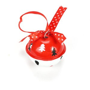Christmas Decorations For Home 6pcs Red White Metal Jingle Bell With Ribbon 50mm Tree Bells For Christmas Ornaments Decor wmtBZU petsyard