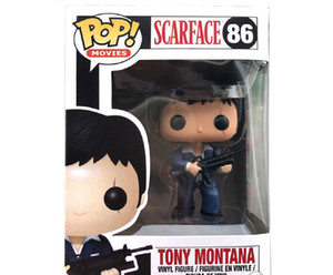 New Funko pop SCARFACE 86# TONY MONTANA Toy PVC Collection figure Toys For Kids birthday Gifts