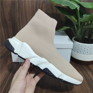 Ucuz Kadın Erkek Çorap Hız Tenis Ayakkabı Sneakers Örme Slip-On Yüksek Kalite Rahat Yürüyüş Ayakkabı Konfor Tüm Siyah Chaussures